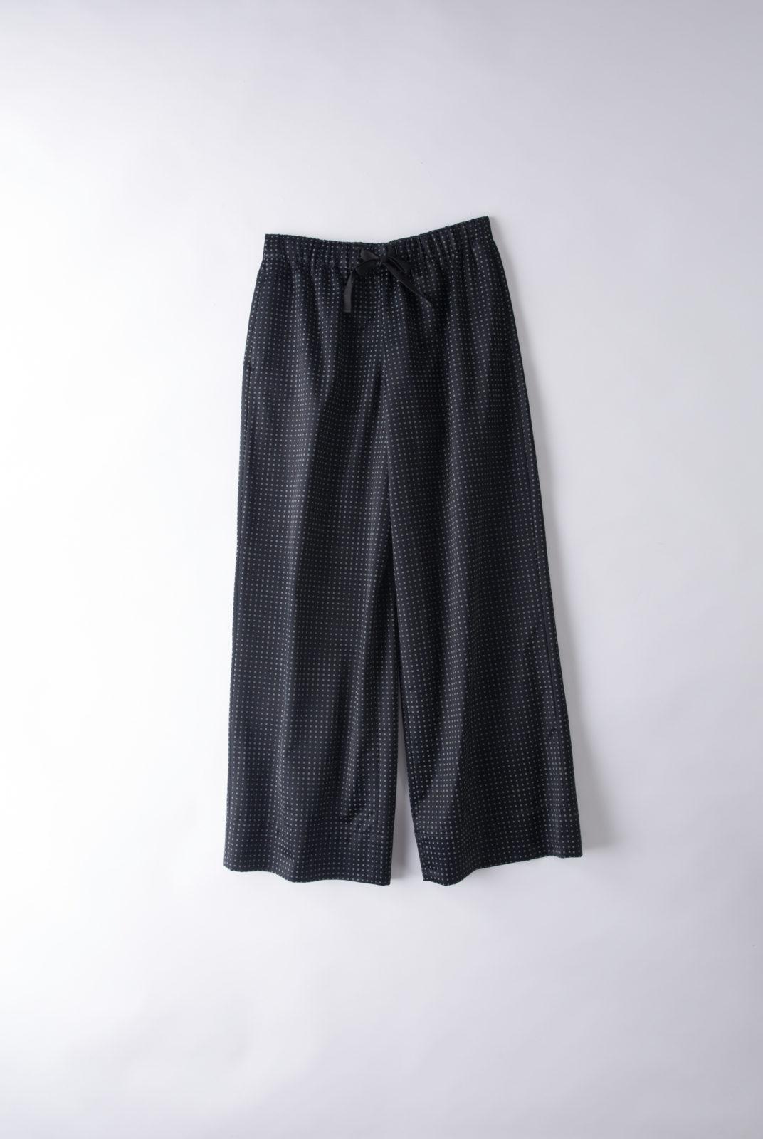 pantalon, coton, viscose, imprimé italien, couple ample, court, taille élastique, ajustable, lacet plat, APC