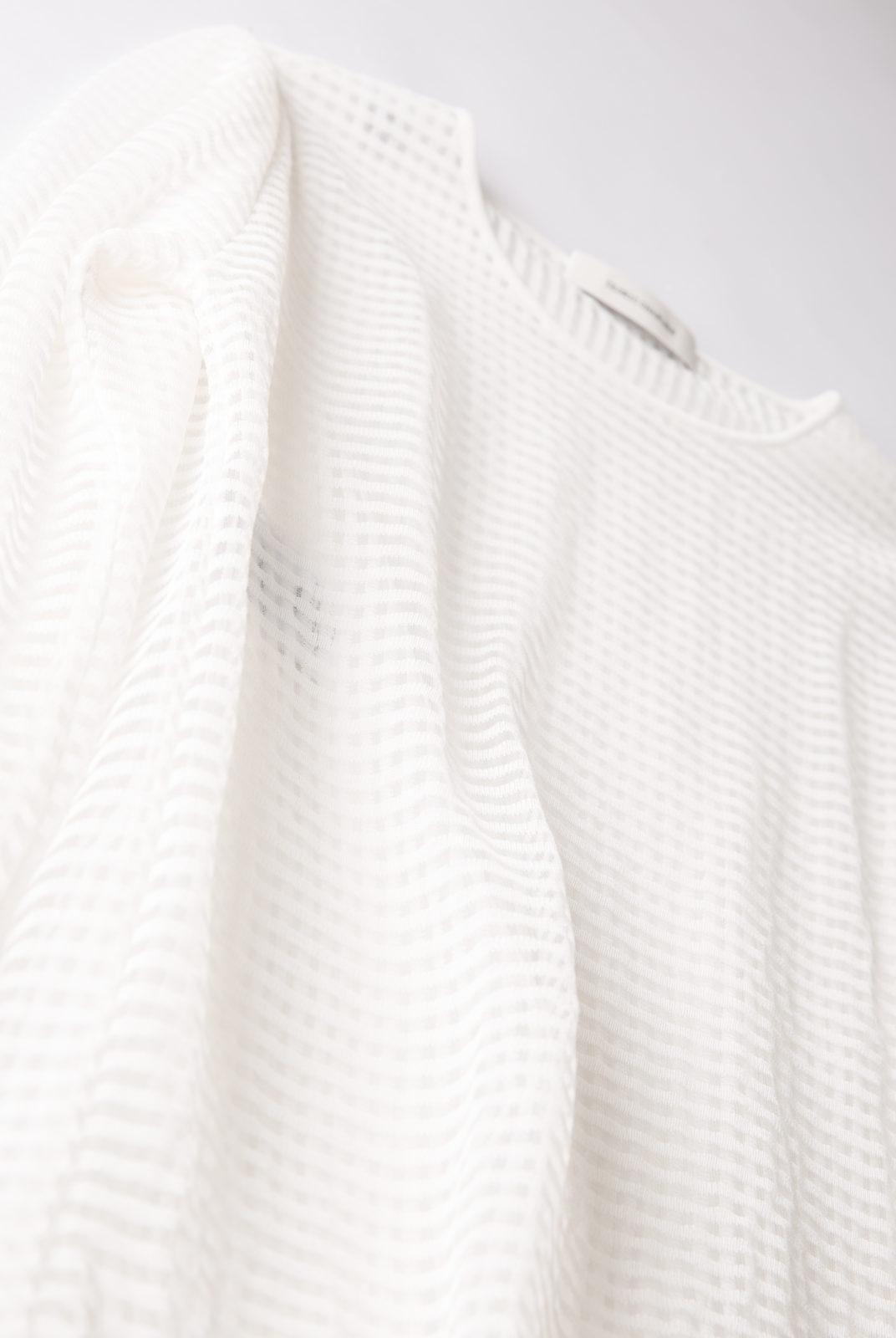 pull, blanc, transparent, petits carreaux, graphique, Cédric Charlier