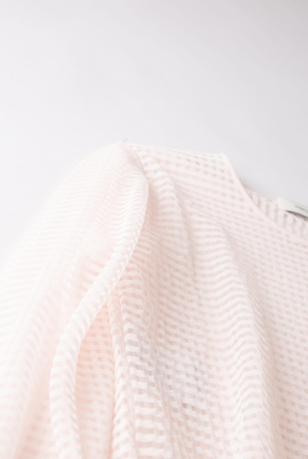 pull, transparent, rose, petits carreaux, graphique, Cédric Charlier