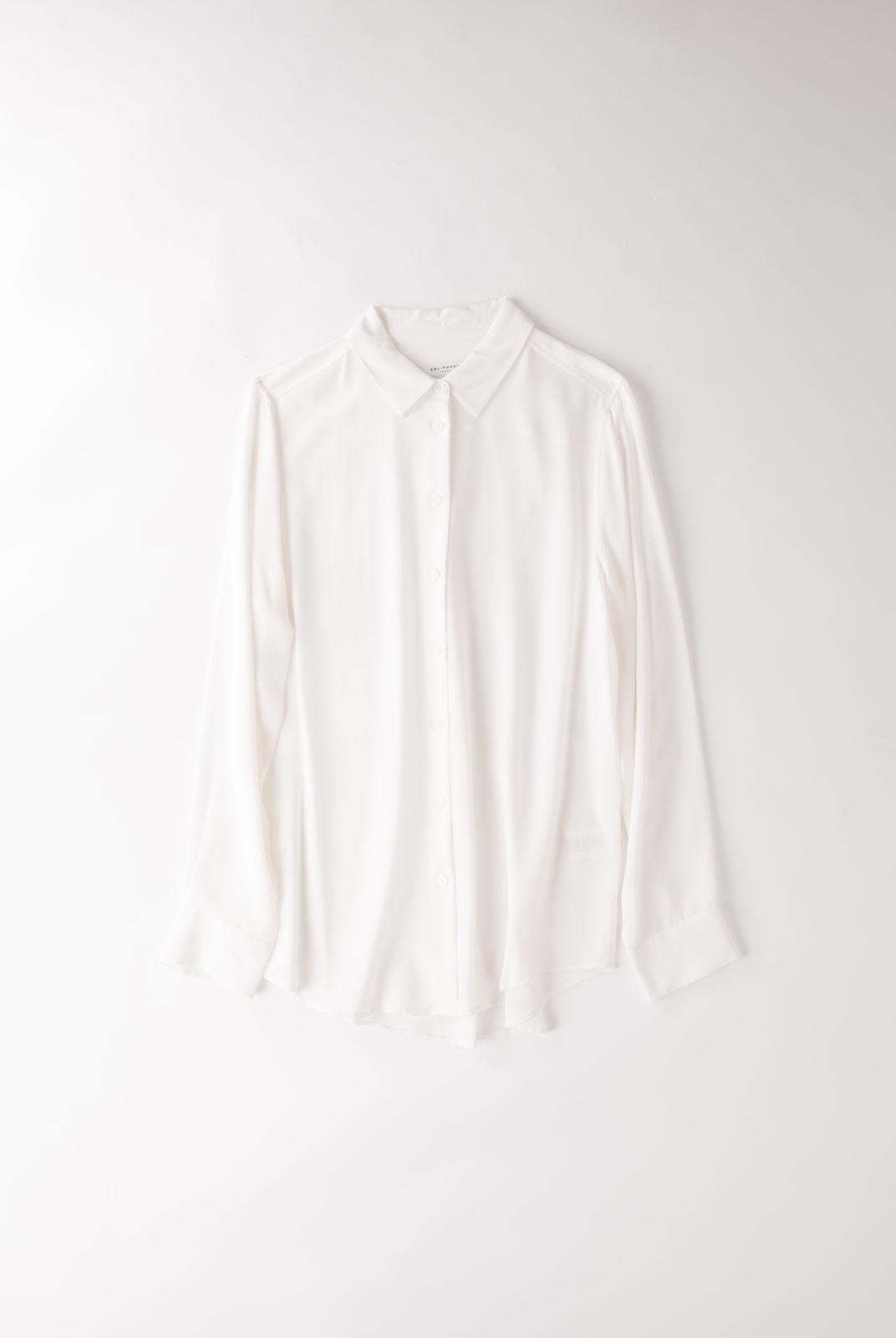 Chemise Essential blanche, en soie lavée/lavable, equipment