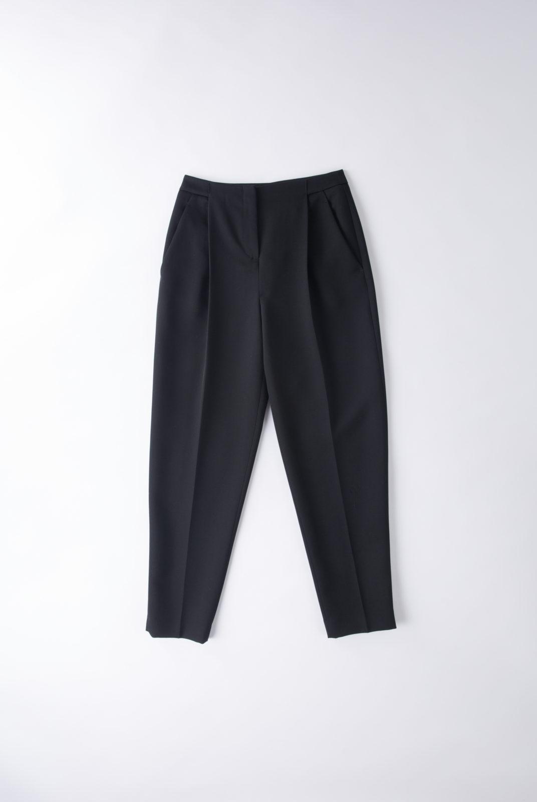 Pantalon noir, en laine vierge, coupe droite, costume, jil sander navy