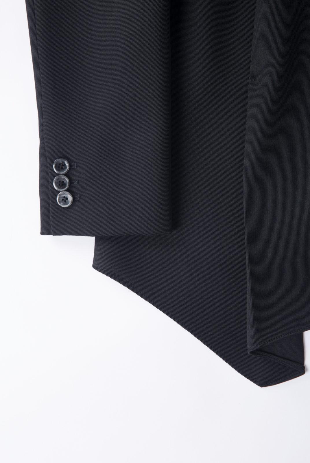 veste noire, laine vierge, sans col, non boutonnée, jil sander navy