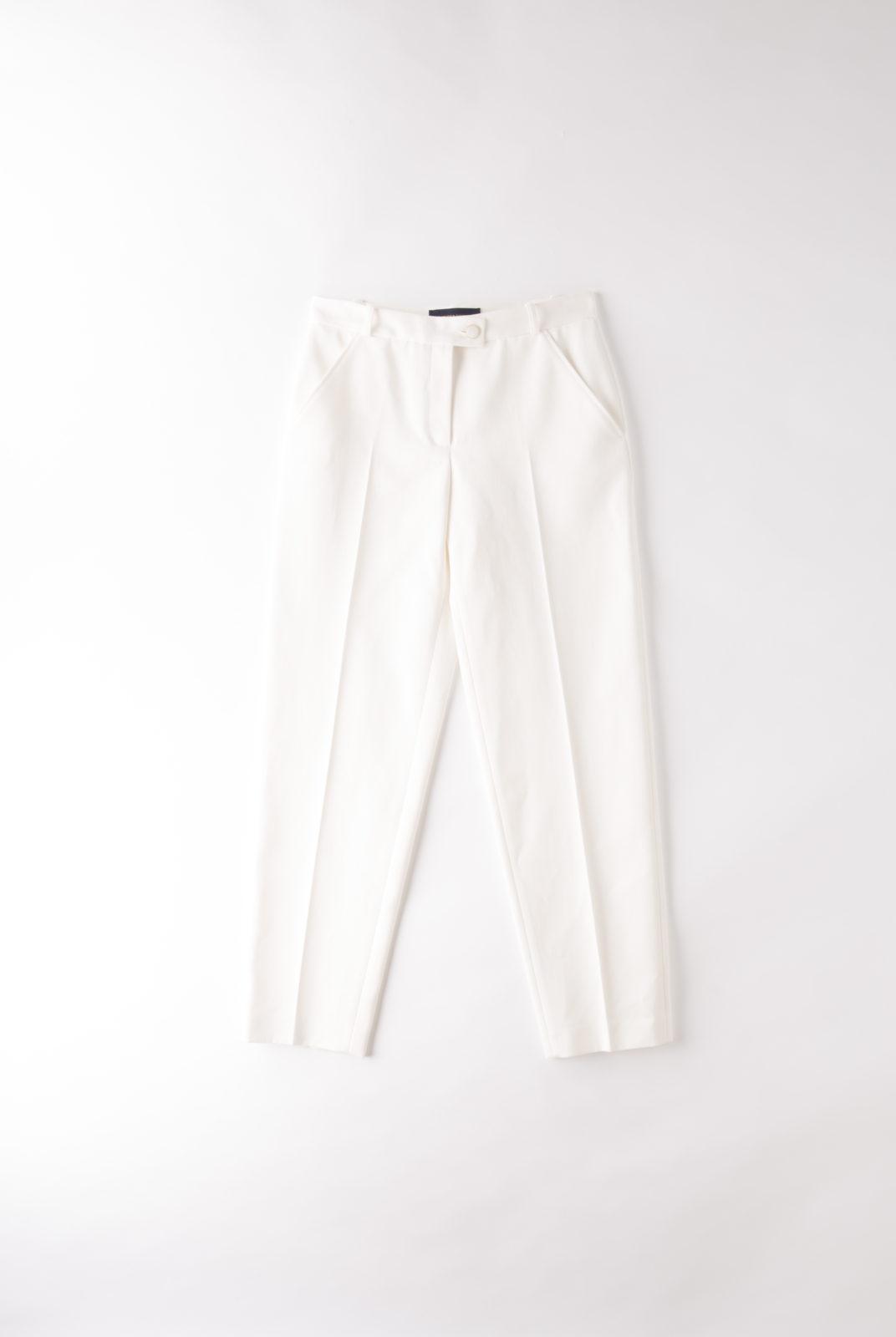 Pantalon Freddie blanc cassé, costume, masculin-féminin, élégant, intemporel