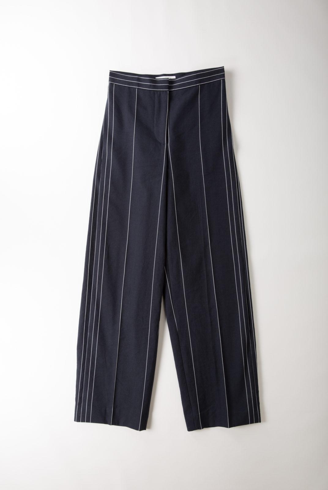pantalon, large, droit, lin, coton, fermeture glissière, cédric charlier