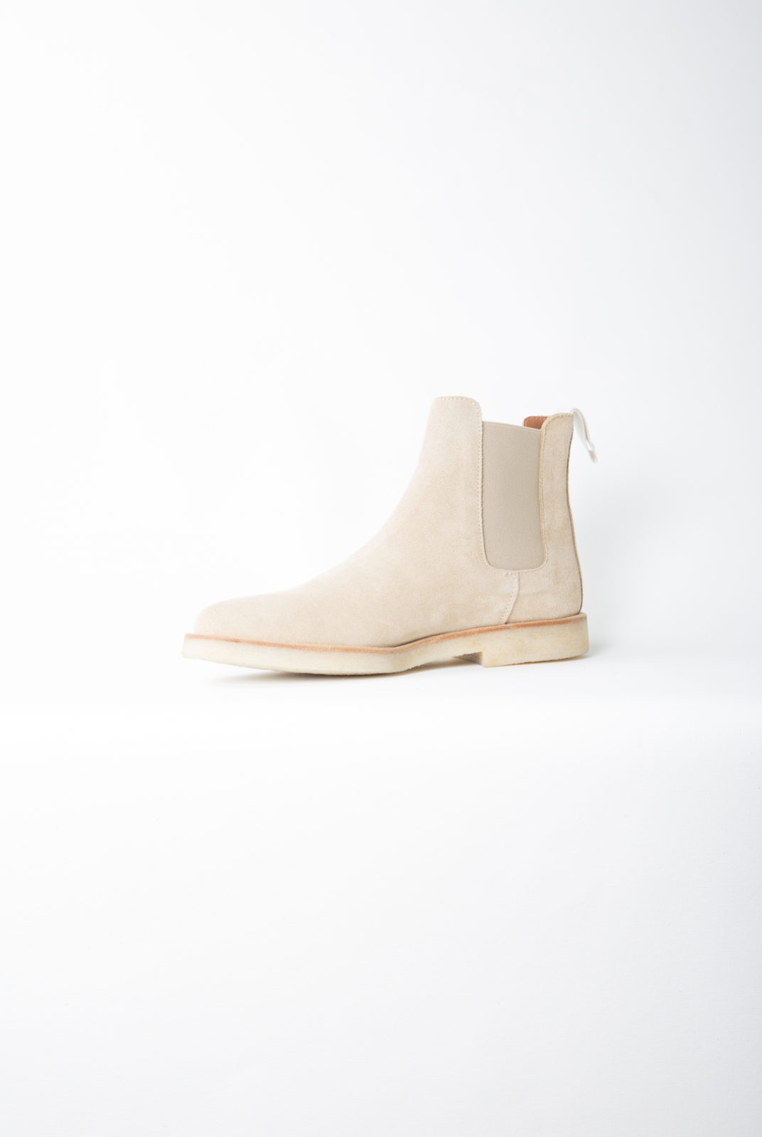 chelsea boots, taupe, détails élastique, common projects