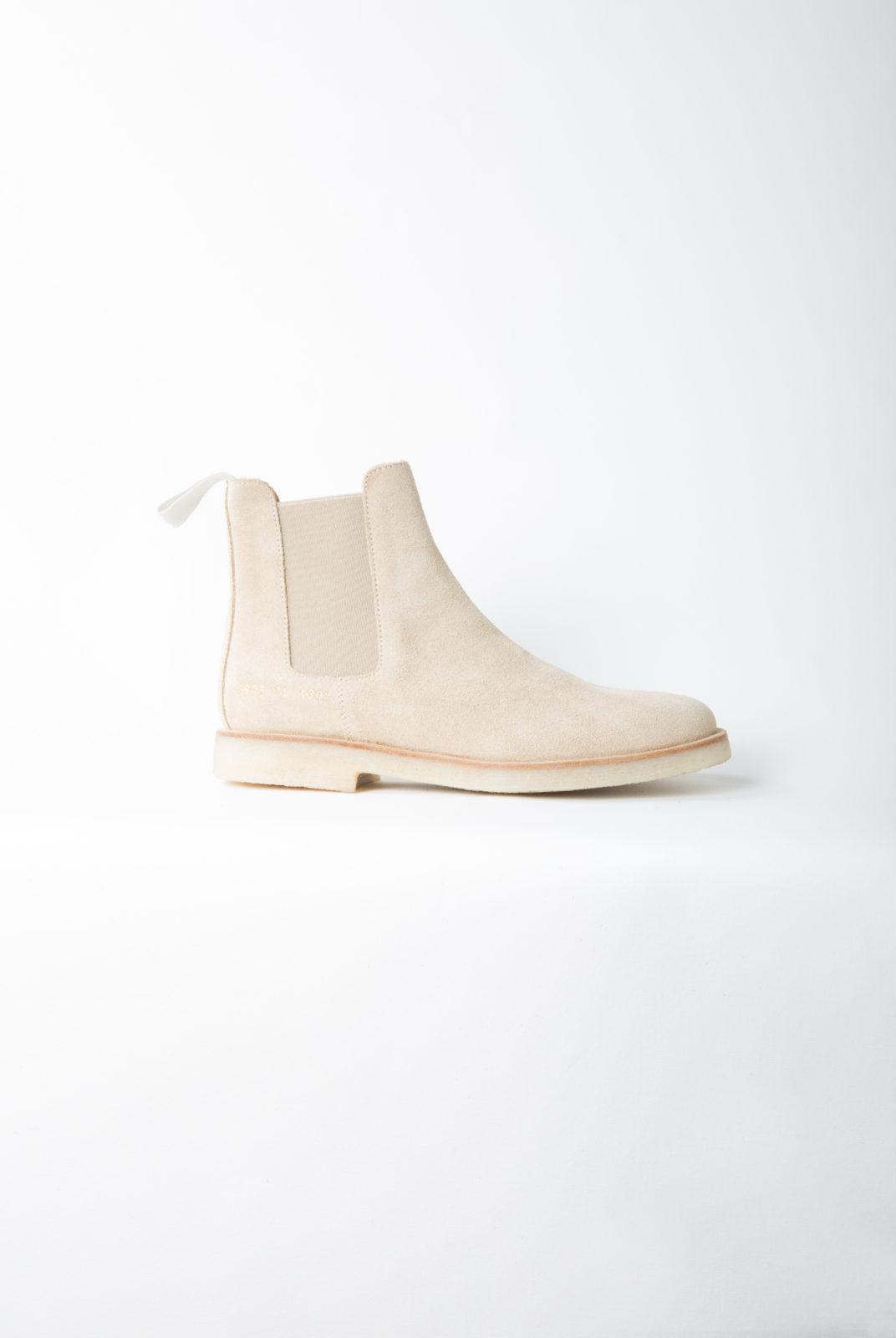 chelsea boots, taupe, détails élastique, common projects