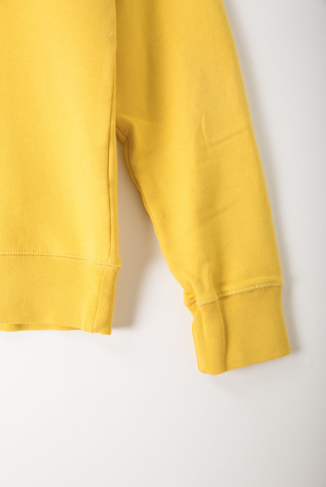 sweat, holiday, jaune, coton, encolure ronde, manches longues, holiday