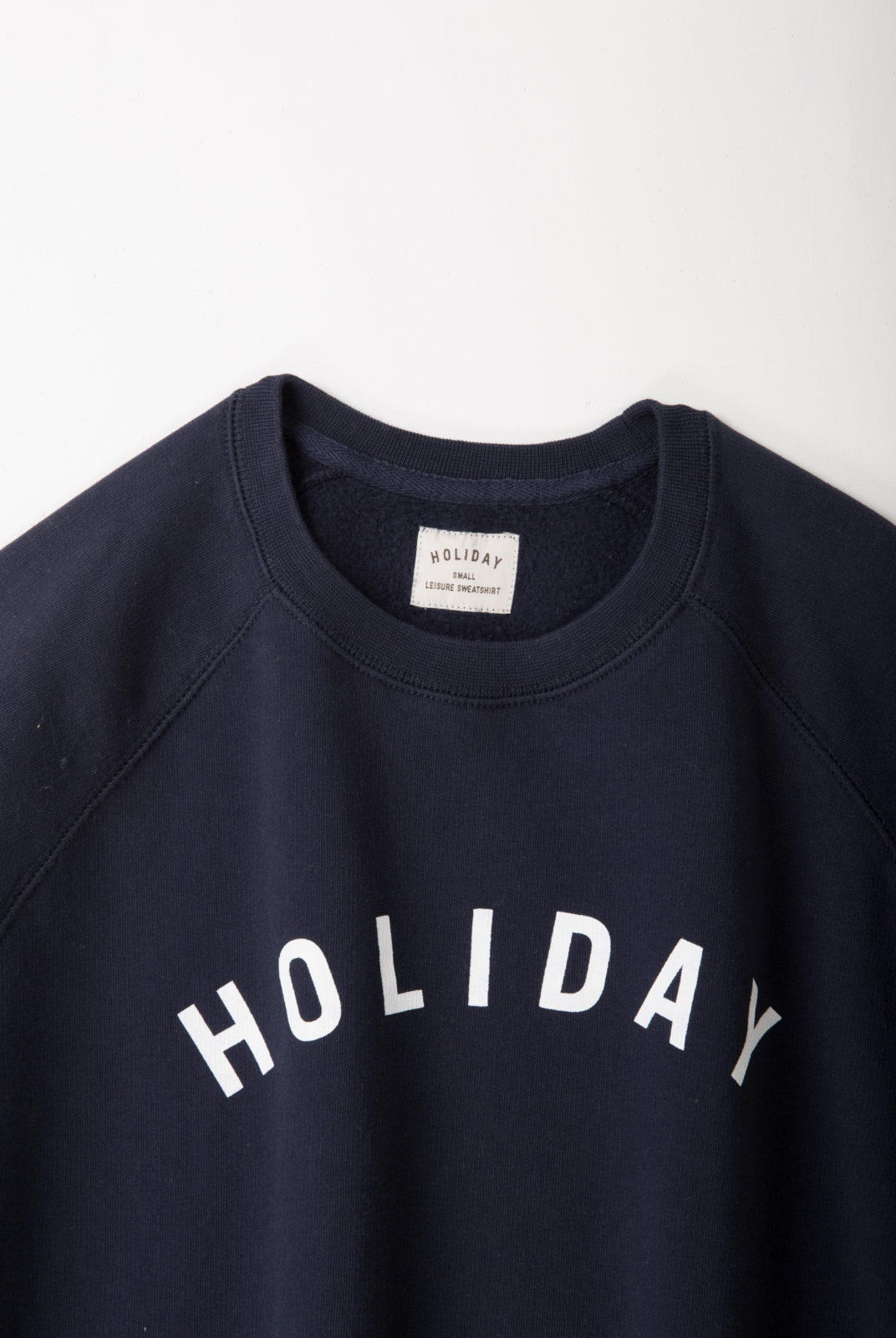 sweat, coton, navy, holiday, col rond, manche longue