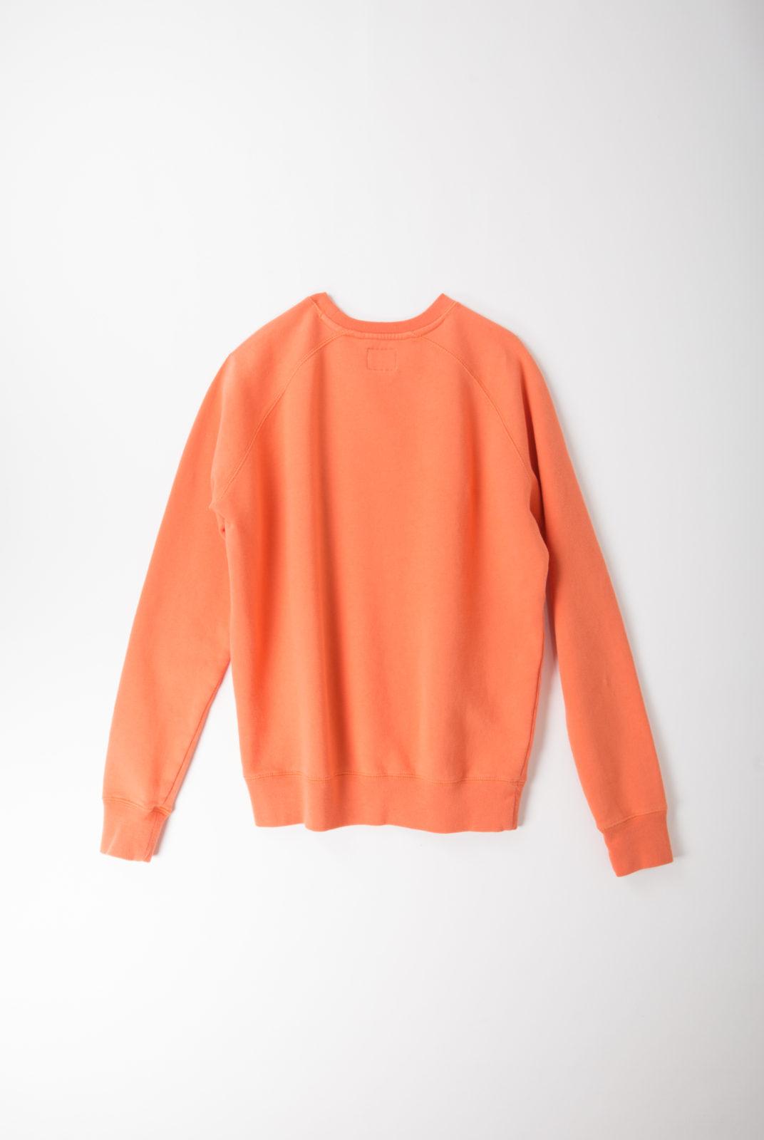 sweat, orange, coton, encolure ronde, manches longues, holiday