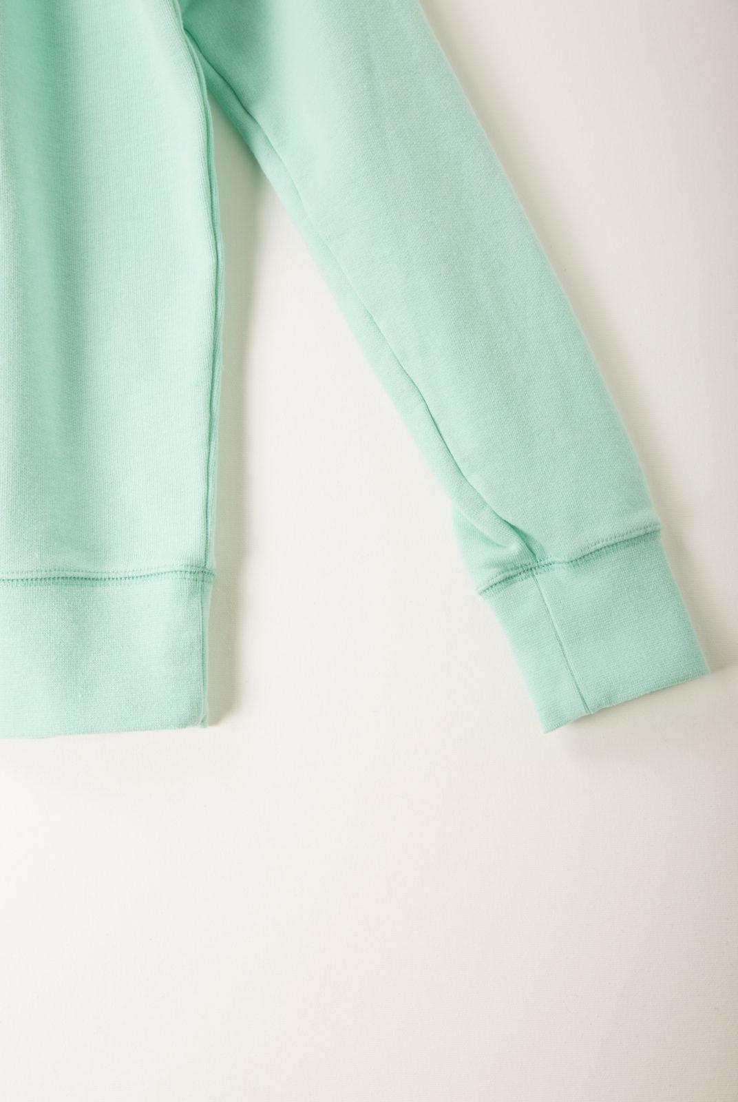 sweat, coton, encolure ronde, manches longues, vert d'eau, holiday