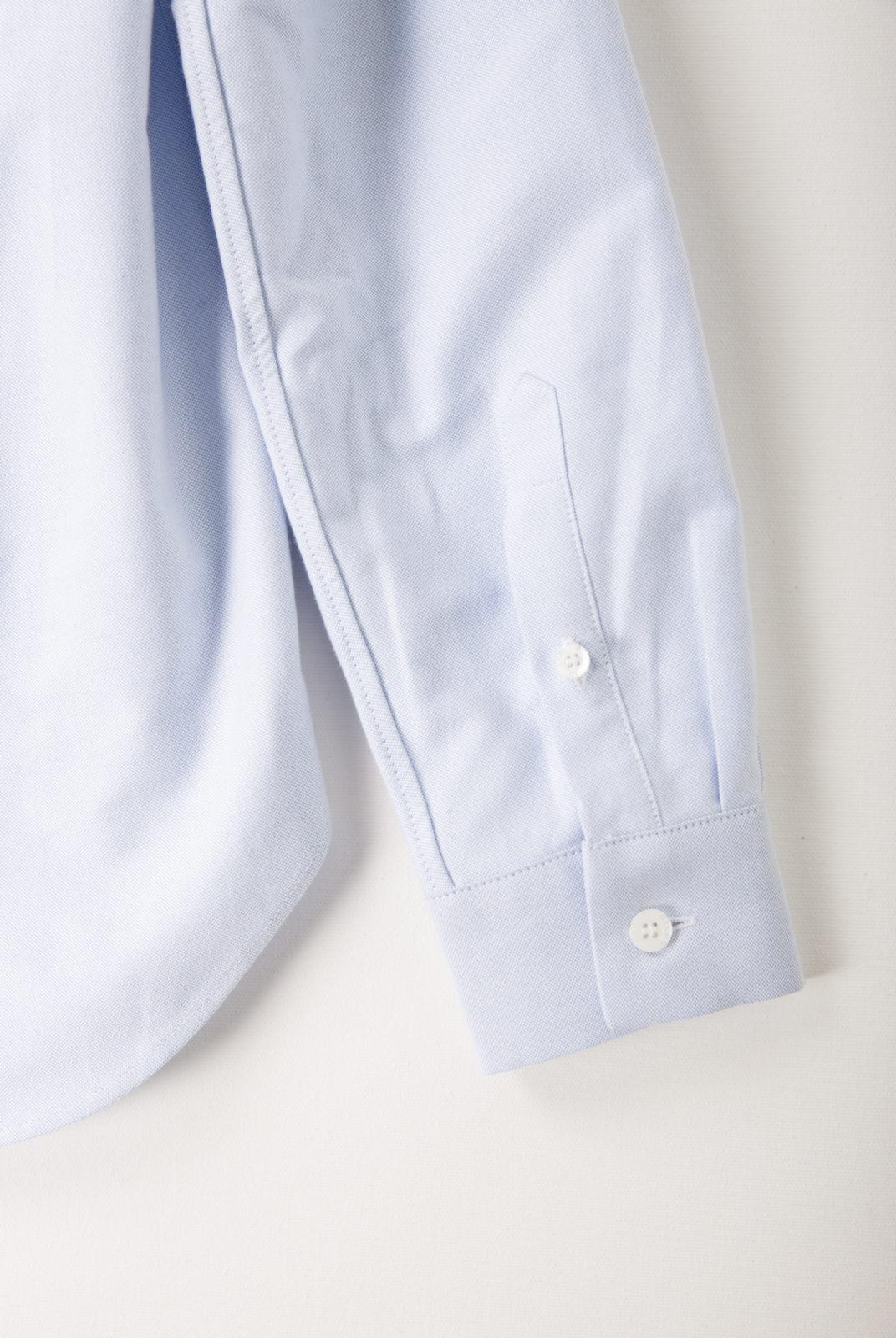 chemise, bleu ciel, logo renard brodé, coupe droite, kitsuné