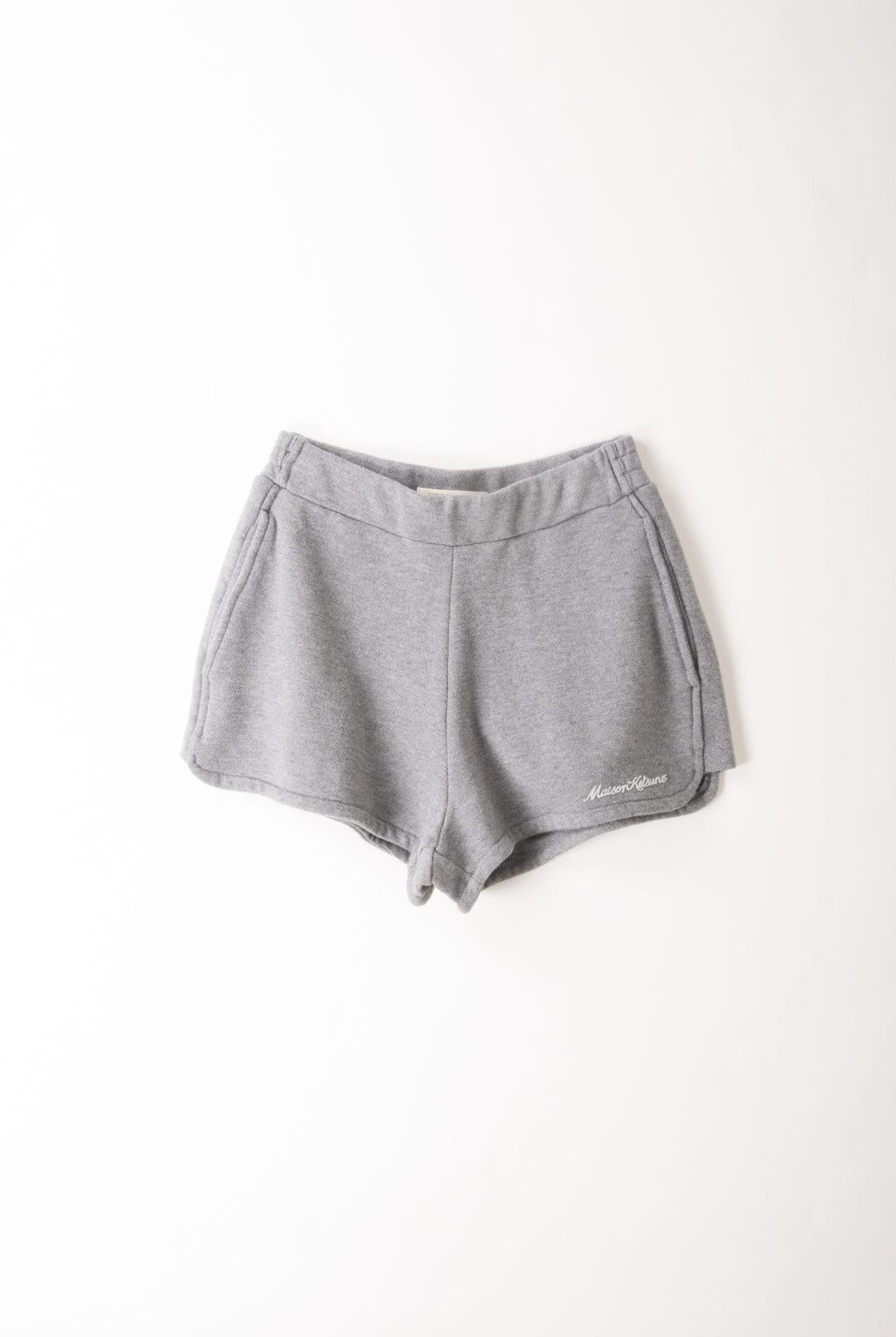 short, inspiration sportswear, gris, coton, maison kitsuné