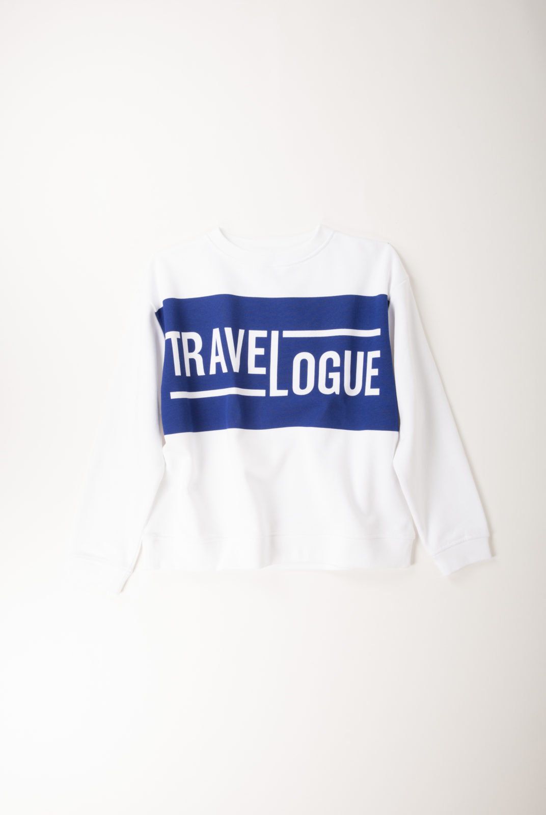 "sweat, serigraphie ""travelogue"", molleton coton blanc, ample et féminin, roseanna"